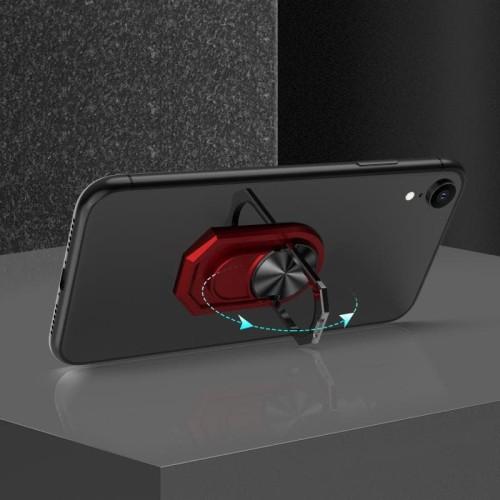 Foto Produk Finger Grip 360 Degree Rotation Ring Magnetic Phone Holder iRing Stand - Hitam dari Caselova Store