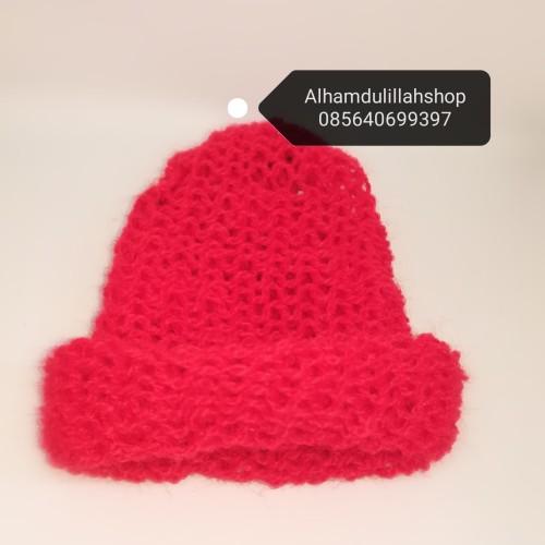 Foto Produk topi rajut untuk kucing domestik - Merah dari alhamdulillahshop