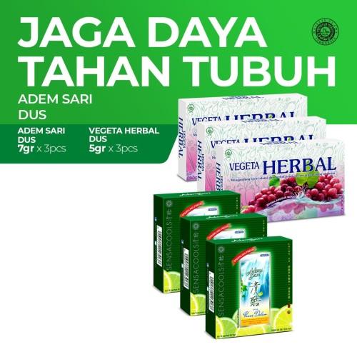 Foto Produk Vegeta Herbal Dus 3x6'S & Adem Sari Dus 3x5's dari Enesis Official Store