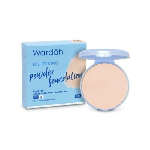 Foto Produk Wardah Refill Lightening Powder Foundation Light Feel 02 Golden Beige dari Wardah Official