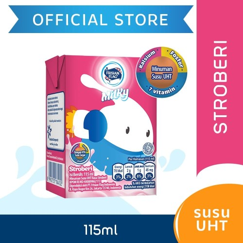 Foto Produk Frisian Flag Milky Zuzhu Susu UHT Strawberry 115ml dari Frisian Flag Official