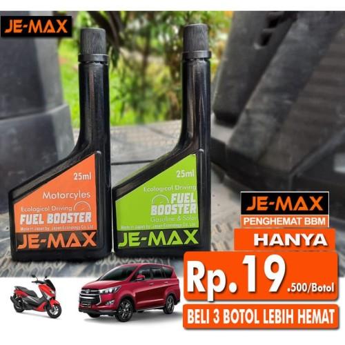 Foto Produk JEMAX Penghemat BBM Bensin Solar Oktan Booster Mobil & Motor JE-MAX - Untuk Motor dari TDC Variasi