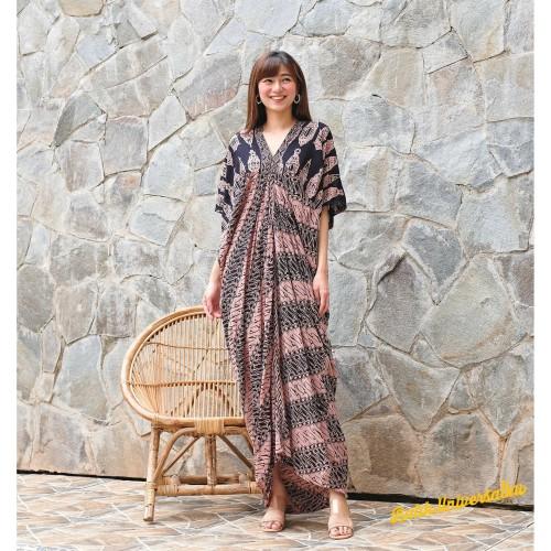 Foto Produk Long Kaftan Dress Batik Terusan Panjang Modern - Lampion Sogan dari Batik Universal