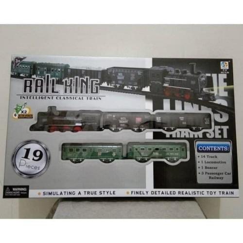 Foto Produk Mainan Rail King Classic Train - Mainan Set Kereta & Rel 19 Pcs dari ciustoys