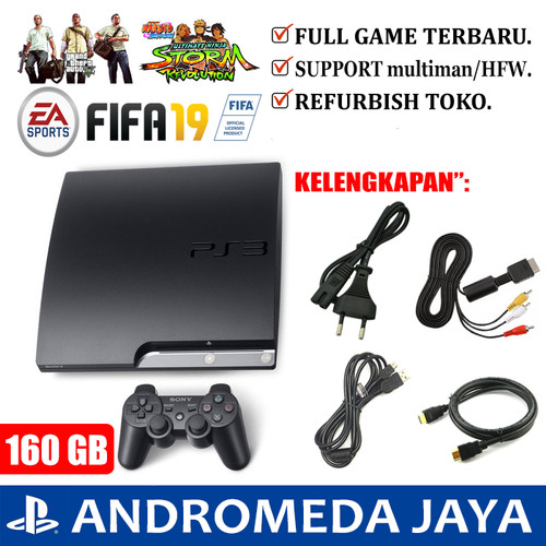 Foto Produk SONY PS3 PS 3 Playstation 3 Slim OFW 160 GB Full Game - SATU ENAM PULUH dari Andromeda Jaya