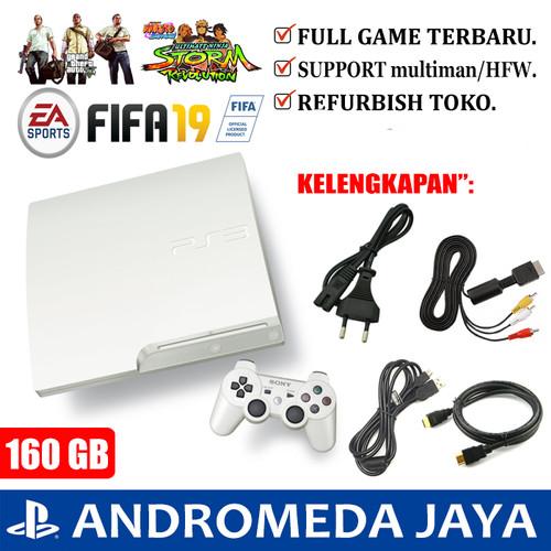 Foto Produk SONY PS3 PS 3 SLIM OFW 160GB PUTIH dari Andromeda Jaya