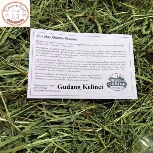 Foto Produk Oxbow Western Timothy Hay , Rumput , Makanan Kelinci Cavy , Repack 1kg dari gudang kelinci