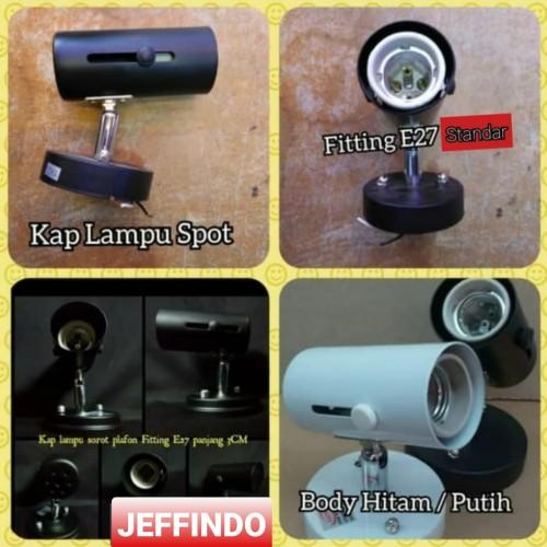 Foto Produk Kap R63 Lampu Sorot Plafon / Tempel Dinding R 63 E27 3cm - Putih dari Jeffindo Mas Electric