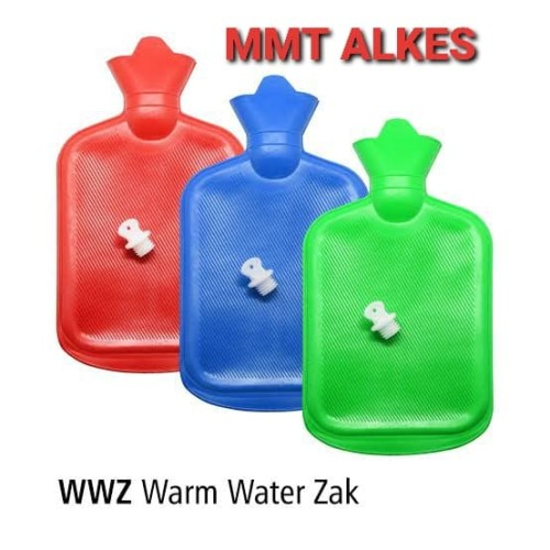 Foto Produk wwz - Bantal Kompres Air Panas Buli Buli Hot Water Bag Warm W - Biru dari MMTAlkes