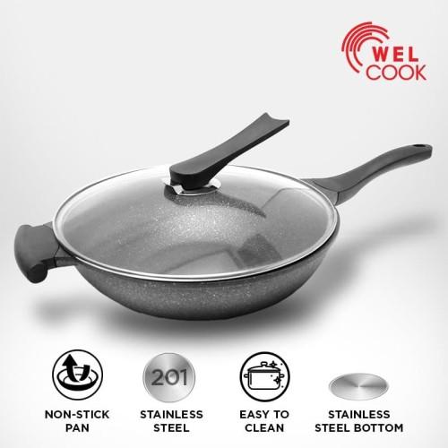 Foto Produk Welcook Wok Alumunium 32 cm Induksi dari Welcook Cookware