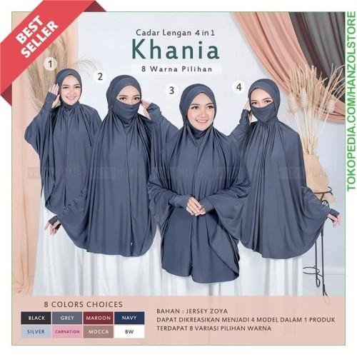 Foto Produk Jilbab Lengan Khimar Cadar Hijab Instan Tangan Panjang Kerudung Masker - Black dari Hanz Olstore