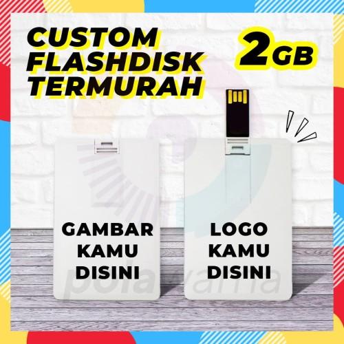 Foto Produk Flashdisk Kartu Custom Print 2GB - Flashdisk Custom Termurah 2GB - 1 Sisi dari polawarna
