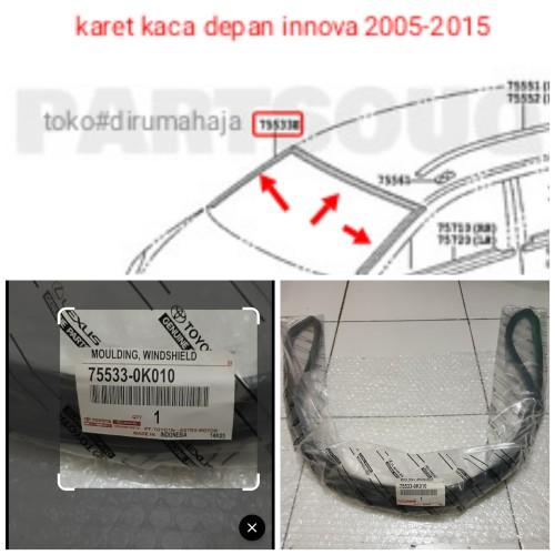 Foto Produk karet kaca besar depan innova 2005-2015 dari toko#dirumahaja