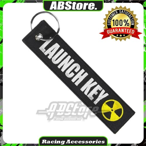 Foto Produk Keychain Keytags Gantungan Kunci Bordir LAUNCH KEY Premium Original dari AB Embroidery Store