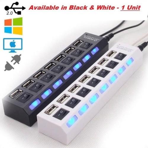 Foto Produk USB Hub 7 Port - Hiqh Speed - Putih dari acc pusat jakarta