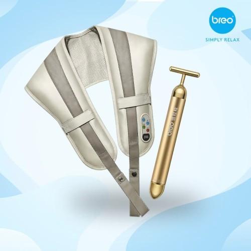 Foto Produk Breo Body Treatment Set Shawl Massager + Golden Roller Package dari Breo Official Store