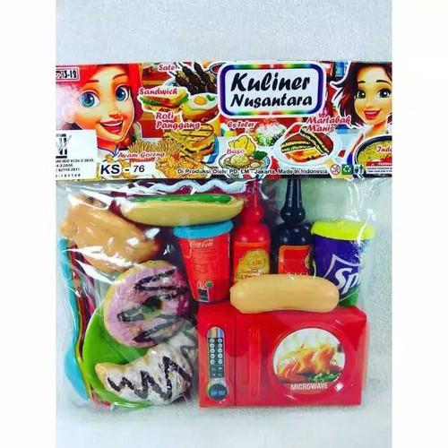 Foto Produk Mainan Masakan Food Court Donat Ayam Microwave dari ciustoys