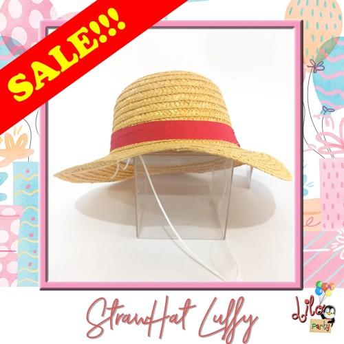 Foto Produk SALE!!! Topi Jerami Strawhat Mugiwara Luffy One Piece dari Lilo Party