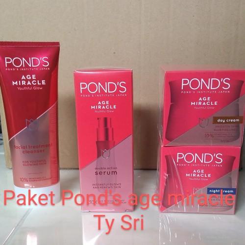 Foto Produk PAKET POND'S AGE MIRACLE PAKET PONDS AGE MIRACLE SKIN CARE - ISI 4 dari Ty Sri