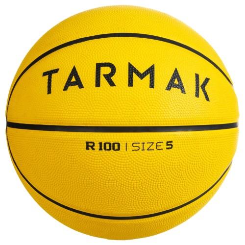 Foto Produk Decathlon Tarmak New Bola Basket R100 Size 5 Kuning - 8547126 dari Decathlon Indonesia