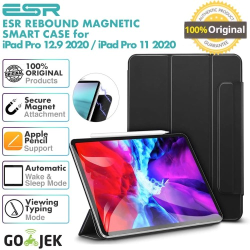 Foto Produk Original ESR Rebound Magnetic Case Apple iPad Pro 11 2020 / 12.9 inch - Hitam, iPad Pro 11 dari GadgetLifestyle Official