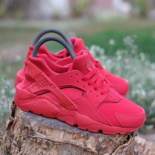 Unik Sepatu Nike Huarache Run - Red - Original Murah