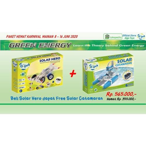 Foto Produk Paket Hemat Sains STEAM Gigo Solar Hero Free Gigo Solar Catamaran dari Gigo Toys