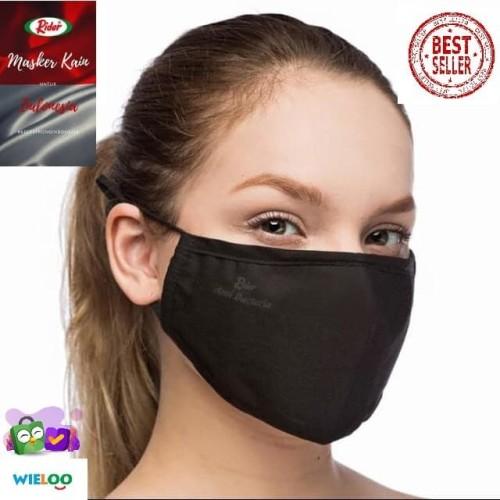 Foto Produk Masker kain Rider anti bakteri 2 ply (Hitam) dari wieloo