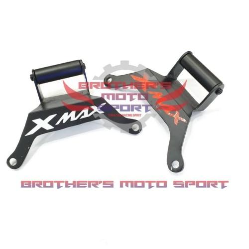Foto Produk breket gps xmax holder gps xmax breket dudukan hp yamaha xmax dari brothers moto sport