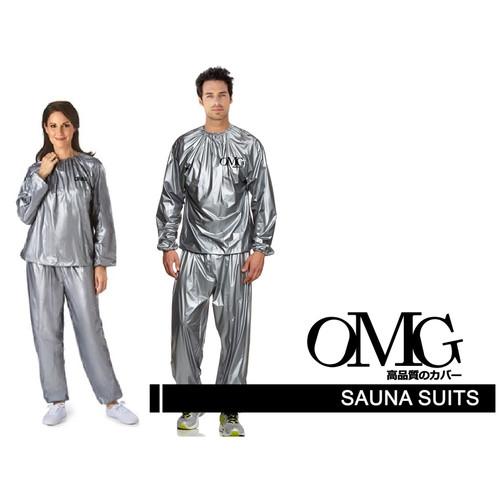 Foto Produk Baju Sauna Suit OMG Jaket Celana Olah Raga Pria Wanita Best Quality - M SILVER dari GrosirOtomotif