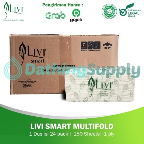 Foto Produk (KHUSUS GOJEK/GRAB) Tissue LIVI SMART TOWEL Multifold 1 DUS 24PACK dari Dathing Supply
