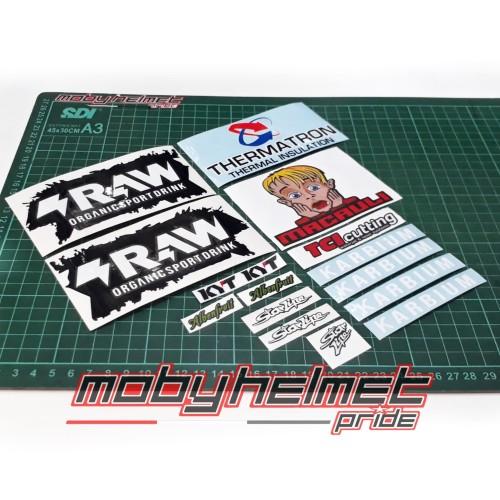 Foto Produk Sticker Set - KYT TT Course - Jaume Masia - Full - Good Quality dari Moby Helmet Pride