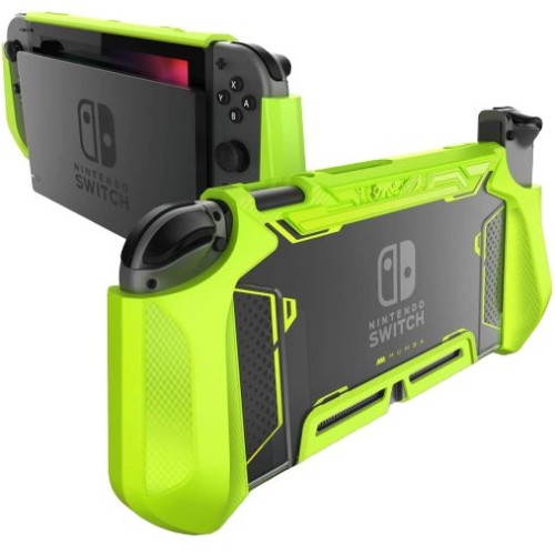 Foto Produk Nintendo Switch Case Mumba Blade Series Heavy Duty Grip Cover - Black - Green dari Supcase Official ID