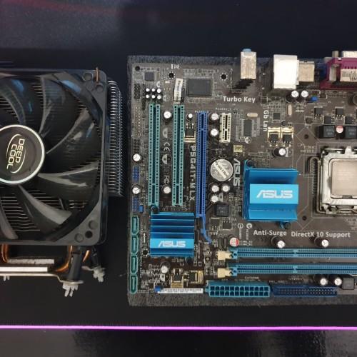 Foto Produk Motherboard Asus P5G41T + Proc Xeon + Fan DeepCool dari Lensa Pradita