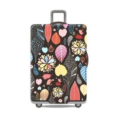 Foto Produk [SIZE M] [22-25 inch] Elastic Luggage Cover / Sarung Koper Elastis - Leaf Autumn dari Nidji Shop
