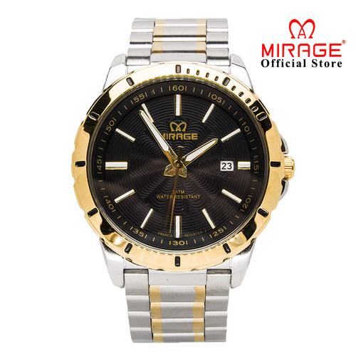 Foto Produk Jam Tangan Pria Terbaru MIRAGE 8549M Silver-Gold Kombinasi pK - Kuning dari Mirage Watch