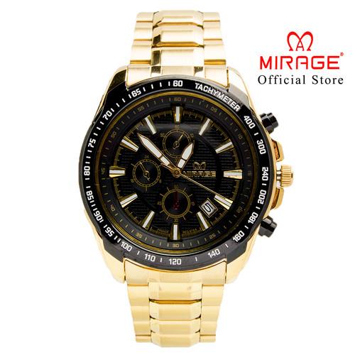 Foto Produk Jam Tangan Pria Sport Gold Mirage 8305M Ring Hitam PH dari Mirage Watch