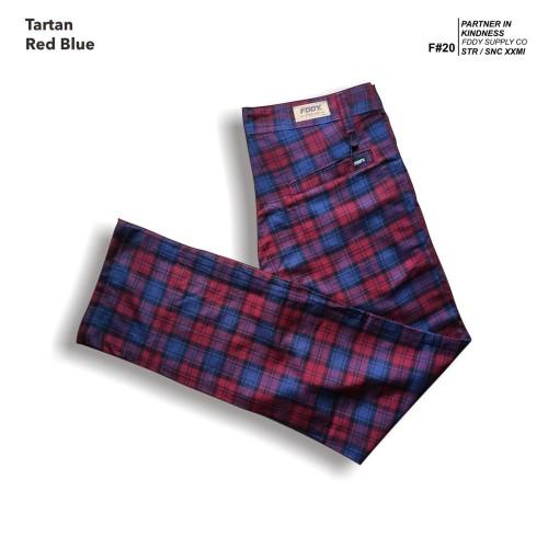 Foto Produk fruddy duddy - fddy - tartan - pants - red blue - M dari Fruddy Duddy