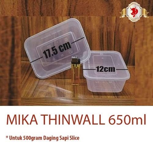 Foto Produk Mika Thinwall 650ml untuk Daging Sapi Slice 500gram dari BERKAH JAYA MEAT