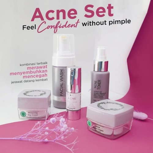 Foto Produk MS GLOW - ACNE SET Feel Conficent without Pimple + Free Bonus dari MS Glow_Surabaya