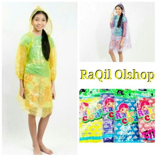 Foto Produk jas hujan anak plastik sekali pakai / jas hujan plastik terusan dari RaQil_Olshop