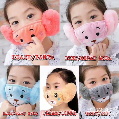 Foto Produk Earmuff mask masker penutup telinga mulut anak winter musim dingin dari KIENAN SHOP