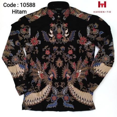 Foto Produk Kemeja Batik Panjang Pria. Merk Alisan model slimfit dari harden