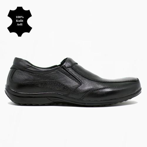Foto Produk Sepatu Pantofel Sepatu Kulit asli Pria Model Casual Santai - Hitam, 39 dari Sepatu Kulit Asli CBDYT
