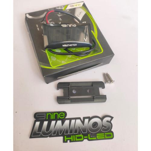 Foto Produk NINE LUMINOS LED VOLTMETER MODEL KOSO UNIVERSAL BERGARANSI - Merah dari Lestari Motor 2