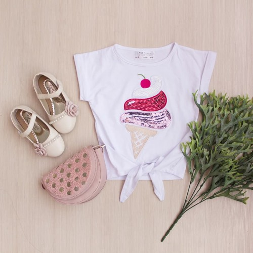 Foto Produk Kaos Anak Perempuan Ice Cream Tee Lacey Atelier - L 5-6 Tahun dari LACEY atelier