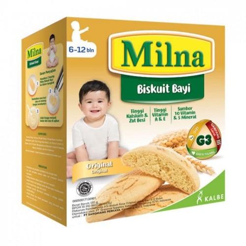 Foto Produk Milna Baby Biscuit / Biskuit Bayi 130g - Milna Pisang dari grosir_susu_murah (GSM)
