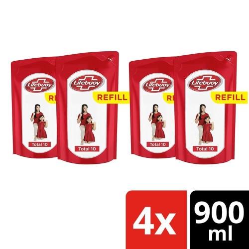 Foto Produk Lifebuoy Body Wash Sabun Mandi Cair Refill Total 10 900Ml Multipack dari Unilever Official Store