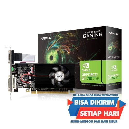 Foto Produk VGA Arktek GeForce GT710 2GB DDR3 64Bit LP dari Garuda Megastore
