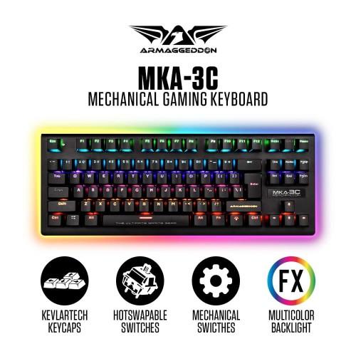 Foto Produk Armaggeddon Mechanical Keyboard RGB MKA-3C Blue Switch [TKL] dari Armaggeddon Official